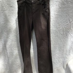 NYDJ Brown bootcut, embellished pockets Size 14W